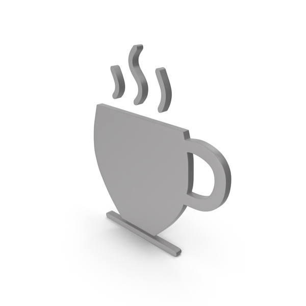 Computer Icon: Coffee Cup Grey Symbol PNG & PSD Images