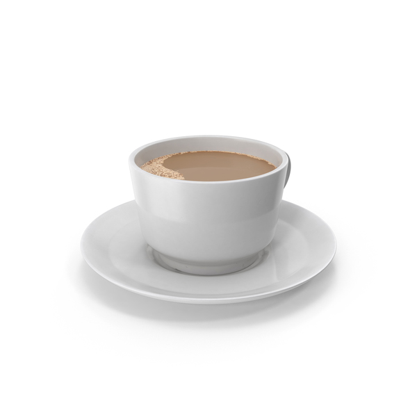 Coffee Cup on Plate PNG & PSD Images