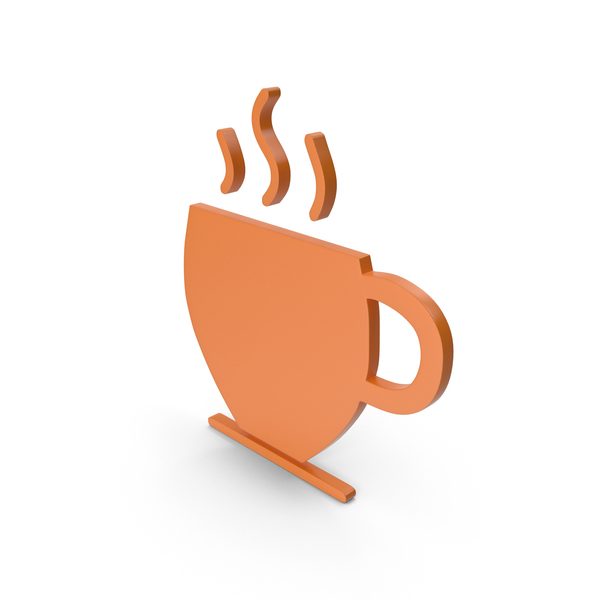 Computer Icon: Coffee Cup Orange Symbol PNG & PSD Images