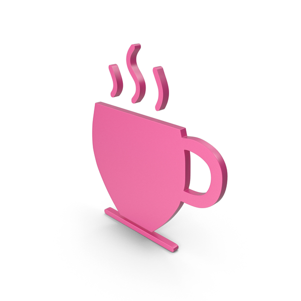 Computer Icon: Coffee Cup Pink Symbol PNG & PSD Images
