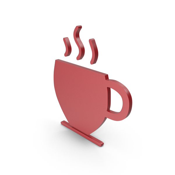 Computer Icon: Coffee Cup Red Symbol PNG & PSD Images