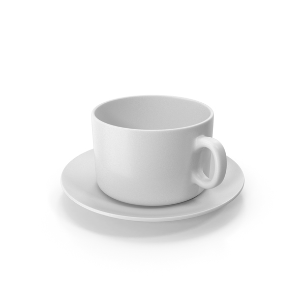 Teacup: Coffee Cup With Plate Empty PNG & PSD Images
