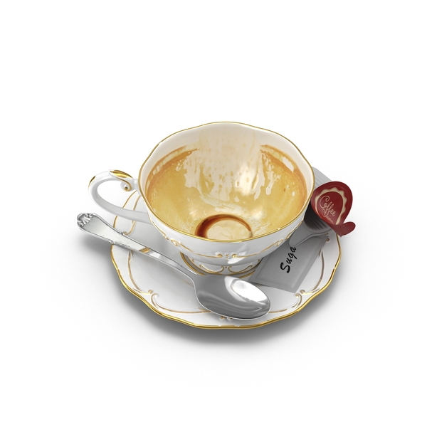 Coffee Cup with Spoon and Sugar Object