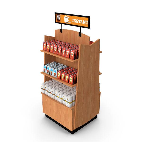 Coffee Display Rack PNG & PSD Images