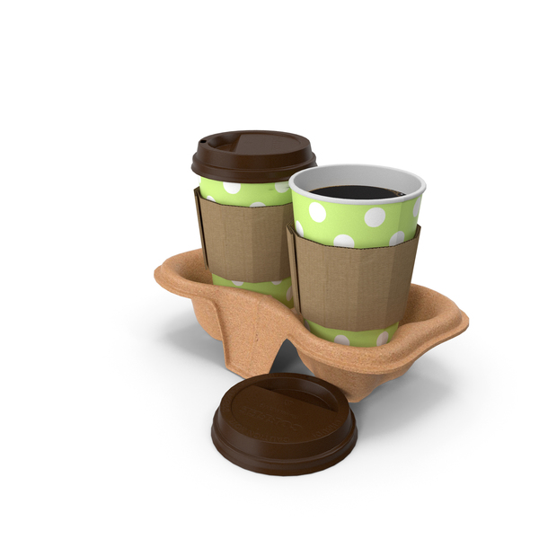 Coffee in holder PNG & PSD Images
