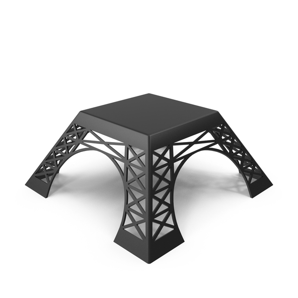 Coffee Table Eiffel Tower PNG & PSD Images