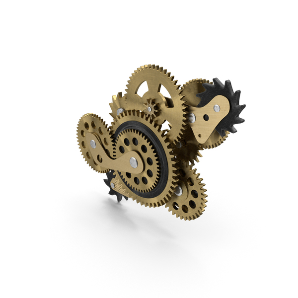 Cog Gears Bronze PNG & PSD Images
