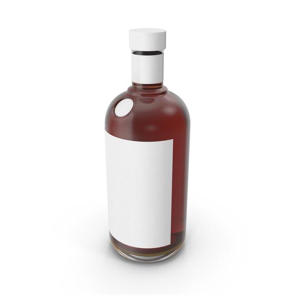 Cognac Bottle Mockup Object