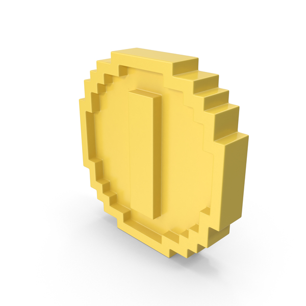 Coin Cartoon Voxelated PNG & PSD Images