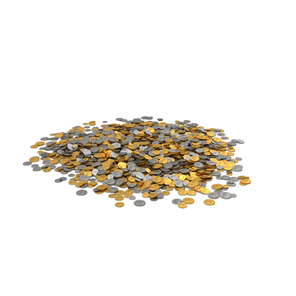 Coin Heap Mix PNG & PSD Images