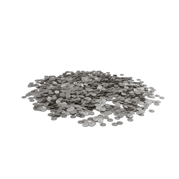Coin Heap Silver PNG & PSD Images