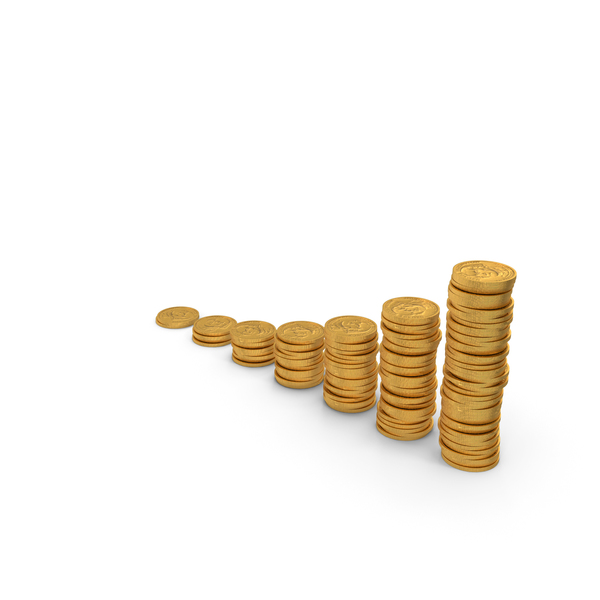 Coin Stacks Gold PNG & PSD Images