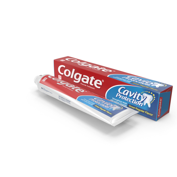 Colgate Toothpaste Box and Tube PNG & PSD Images