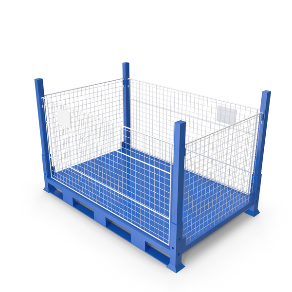 Collapsible Mesh Metal Pallet Cage PNG & PSD Images