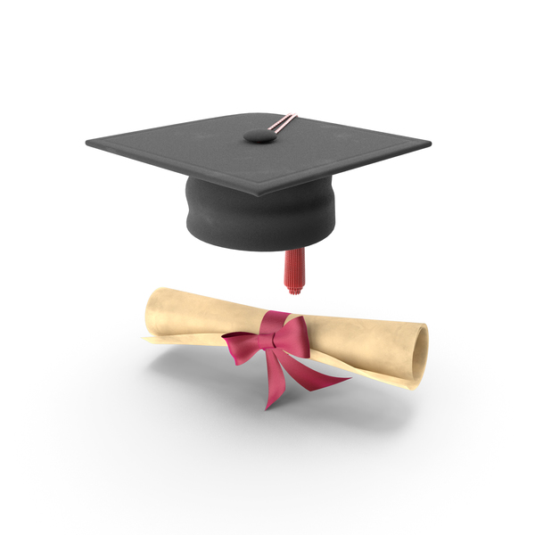Diploma: College Degree and Cap PNG & PSD Images