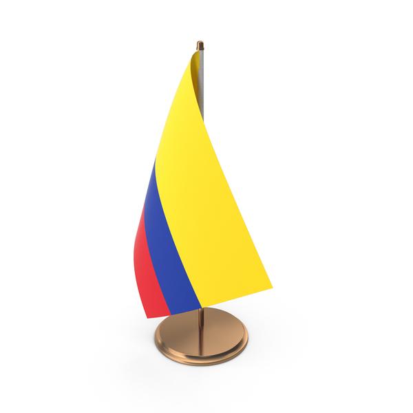 Colombia Desk Flag PNG & PSD Images