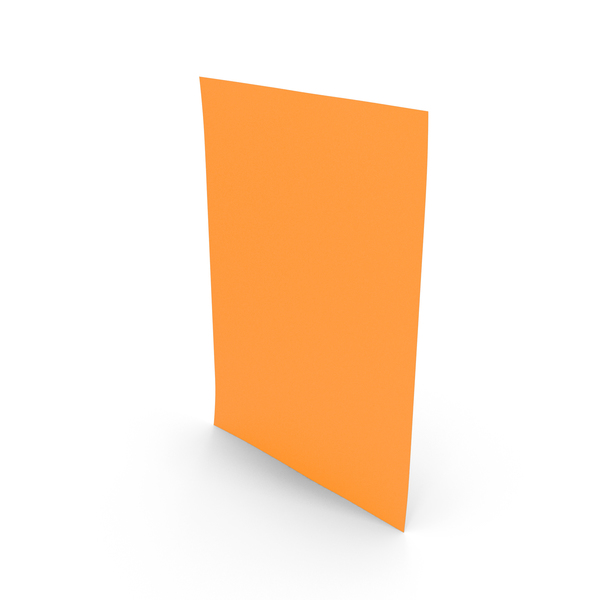 Trimmer: Colored A4 Paper Orange PNG & PSD Images