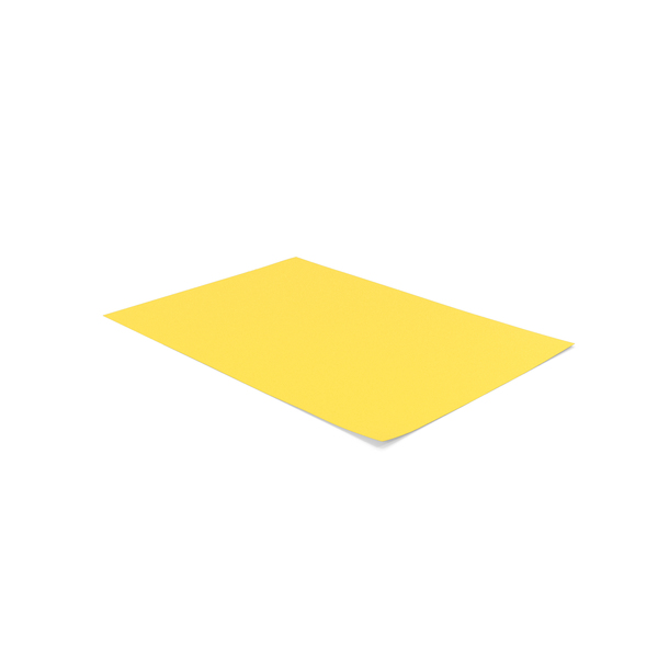 Trimmer: Colored A4 Paper Yellow PNG & PSD Images