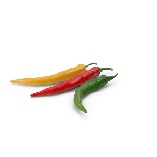 Colored Chili Pepper PNG & PSD Images