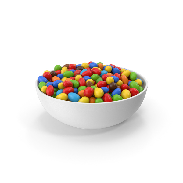 Colored Peanuts In Bowl PNG & PSD Images