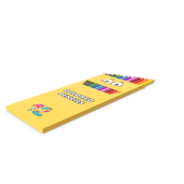 Colored Pencils Box PNG & PSD Images