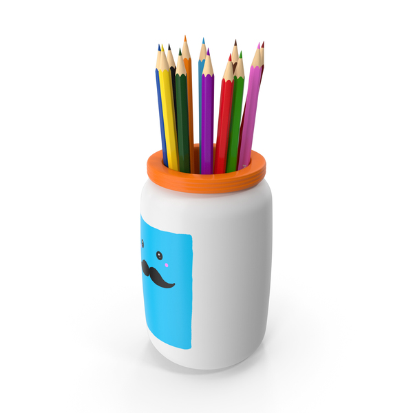 Colored Pencils Holder PNG & PSD Images