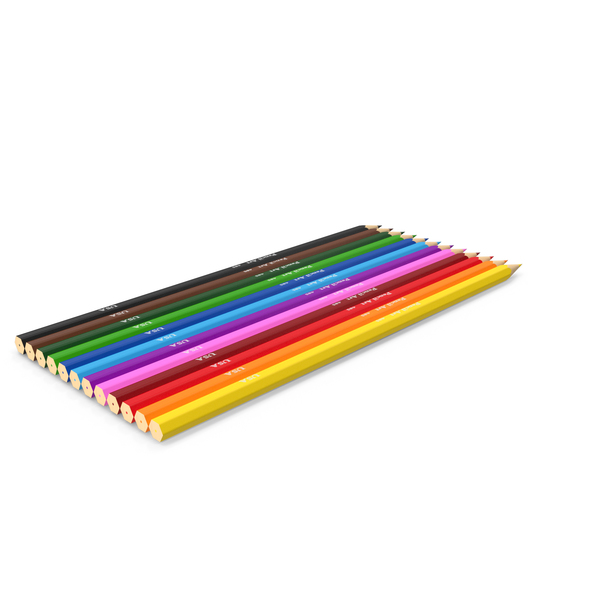 Colored Pencils Low Poly PNG & PSD Images