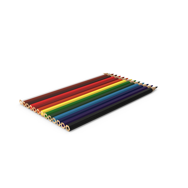 Colored Pencils Object