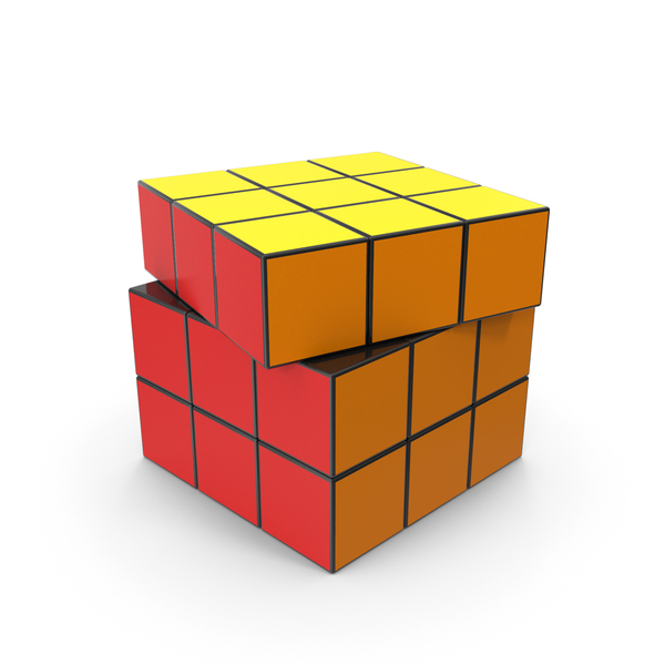 Colored Puzzle Cubes PNG & PSD Images