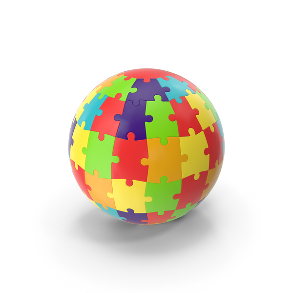 Colored Puzzle Globe PNG & PSD Images