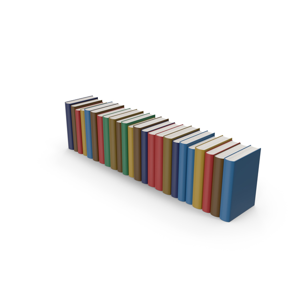 Colorful Book Collection PNG & PSD Images