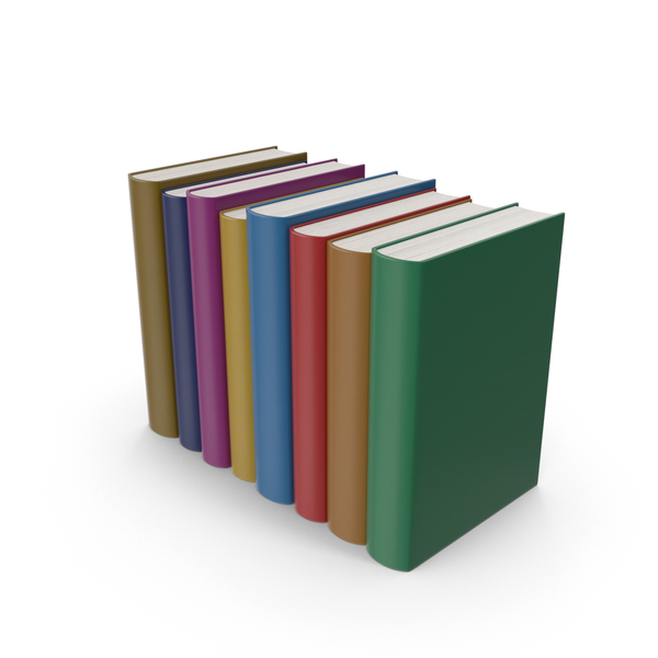 Colorful Book Set PNG & PSD Images