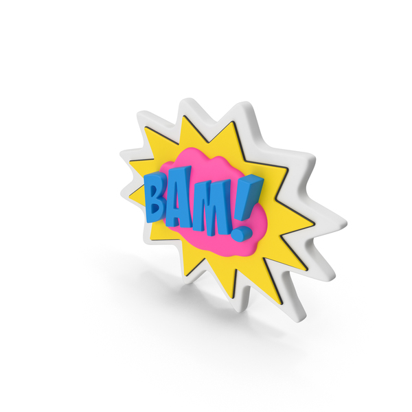Colorful Comic Label BAM PNG & PSD Images