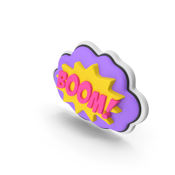 Colorful Comic Label BOOM PNG & PSD Images