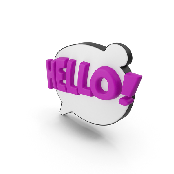 Colorful Comic Label HELLO! PNG & PSD Images