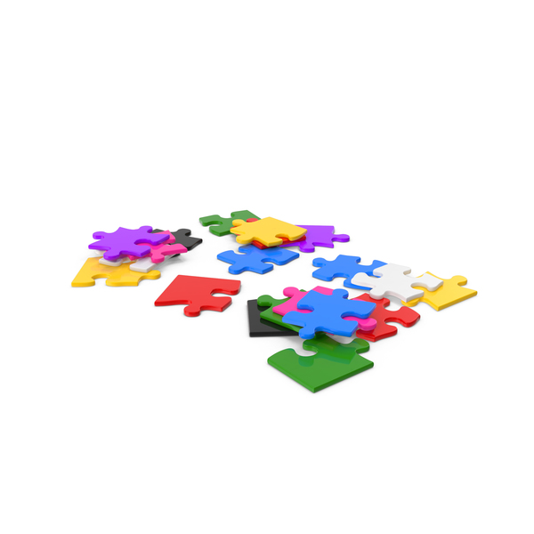Colorful Puzzle Pieces PNG & PSD Images