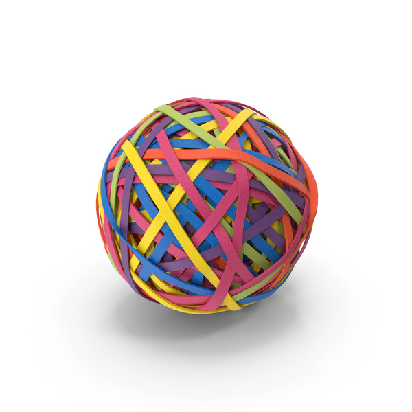 Colorful Rubber Band Ball PNG & PSD Images