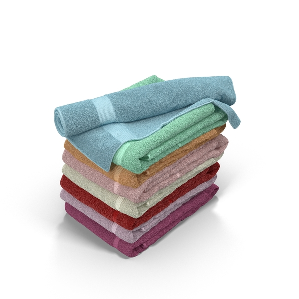 Colour Folded Towels PNG & PSD Images