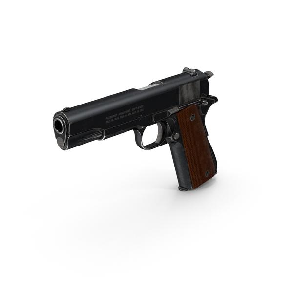Semi Automatic: Colt 1911 Pistol PNG & PSD Images