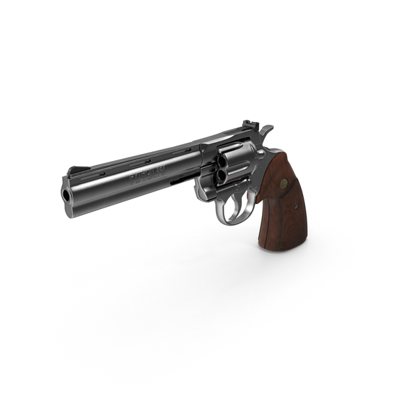 Revolver: Colt Python PNG & PSD Images