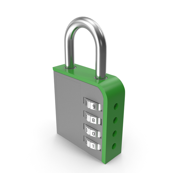 Combination Lock Green PNG & PSD Images