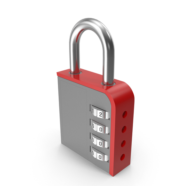 Combination Lock Red PNG & PSD Images