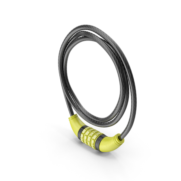 Combo Cable Bicycle Lock PNG & PSD Images