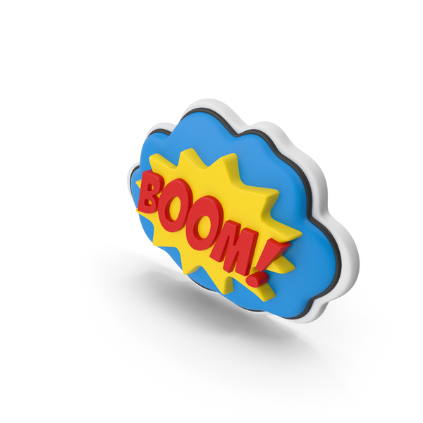 Comic Speech Bubble with Word Stock BOOM PNG & PSD Images