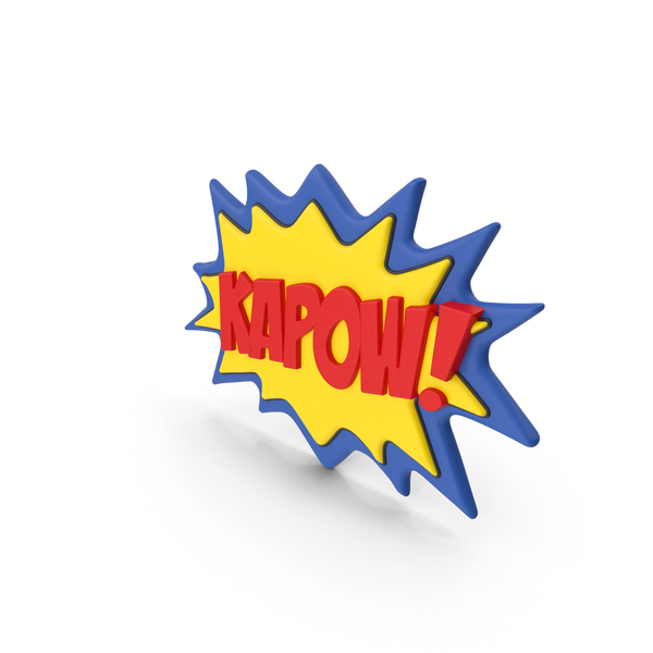 Comic Speech Bubble with Word Stock KAPOW PNG & PSD Images