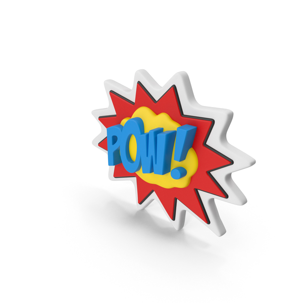Comic Speech Bubble with Word Stock POW PNG & PSD Images