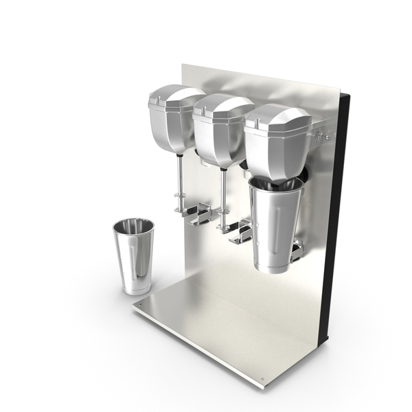 Commercial Triple Spindle Drink Mixer PNG & PSD Images