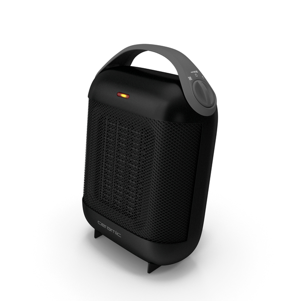 Compact Ceramic Heater Black PNG & PSD Images