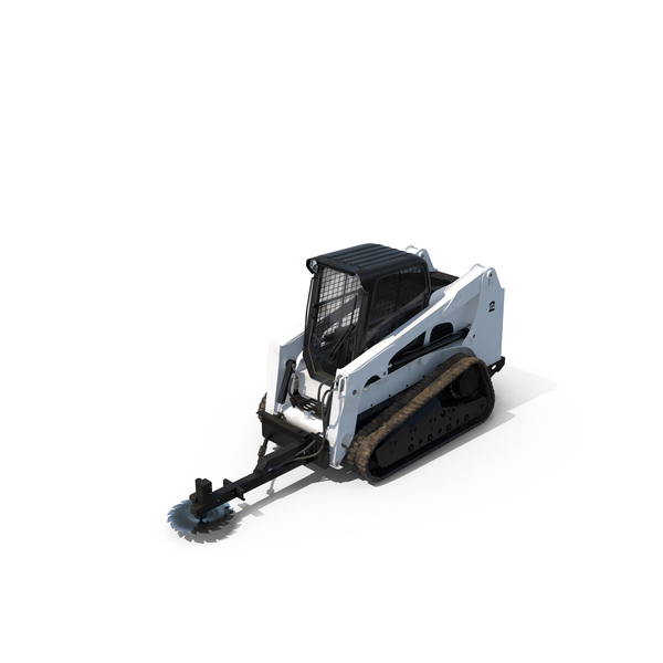 Wheel: Compact Tracked Loader with Saw PNG & PSD Images