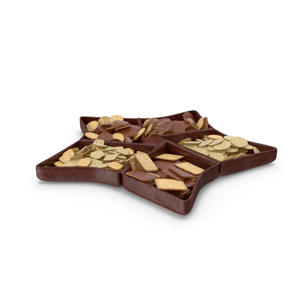 Cracker: Compartment Bowl With Chocolate Covered Crackers PNG & PSD Images